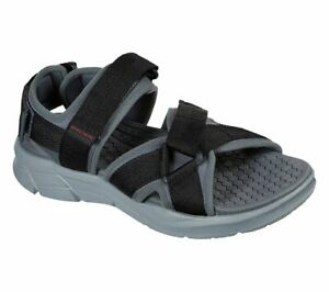 Man Skechers Equalizer 4.0 Sport Casual Sandals 237050 Charcoal Black Brand New