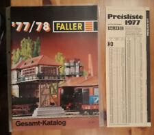 Faller  Gesamt - Katalog 1977 / 78  AMS  HO  N + Preisliste 1977
