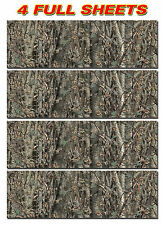 """4 CAMO DECALS MADE FROM 3M WRAP VINYL 48""""x15"""" TRUCK CAMO TREE PRINT CAMOUFLAGE A"""
