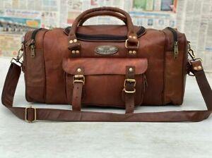 Bag Travel Overnight Luggage Handmade Bag For Men And Women Men's Leather Duffe