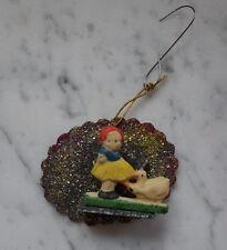 Ornament aus Karton und Tragant- Original um 1930/1940    (# 3308)