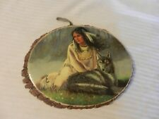 Wolf Maiden Picture Mounted on Wood Wall Art from Cachuma Lake #148-363