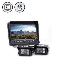 """Rear View Backup Camera - Two Camera Setup RVS-770614 System, 7"""" TFT-LCD"""