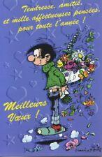 Carte postale Gaston Lagaffe Meilleurs Voeux ! Tendresse, amitié, et mille affec