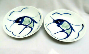 Two(2) Chinese KOI Fish Porcelain Bowls