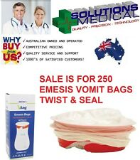 X20 Emesis Vomit Sick Bags First Aid VBAG Red Ring Twist & Seal