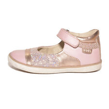 Noel Girls Mini Alize Pink & Gold Leather High Back Shoes UK 8 EU 26 RRP £45.00
