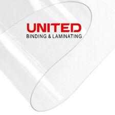 10 mil Rectangular Flexible Clear PVC Face Shield Sheets 8.5