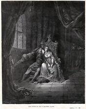 Paolo e Francesca.1.Inferno.Lussuriosi.Dante.Divina Commedia.+ Passepartout.1880