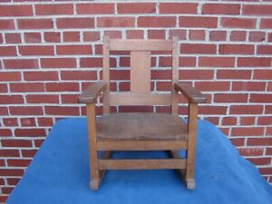 LIMBERT MISSION OAK CHILDS ROCKER CHAIR