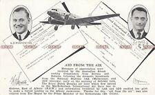 Australia Postcard. Albury New South Wales MacRobertson Trophy Plane Race.  1934