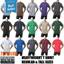 PRO CLUB HEAVYWEIGHT T SHIRTS PROCLUB MENS PLAIN SHORT SLEEVE BIG AND TALL M-7XL