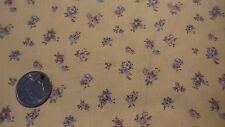 "Cotton Fabric Marcus Bros SMALL PINK,WHITE,BLUE FLORAL ON YELLOW 1 Yd/44"" Wide"