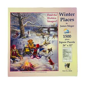 Winter Places, 1500 piece jigsaw puzzle by James Meger. Open Box