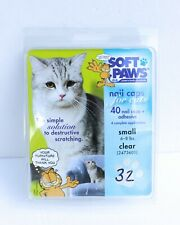 Soft Paws Cat Claw Caps, Soft Claw Caps for Cats - 32 Total Clear Color