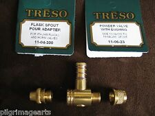 Treso Fast flow Powder valve and pour spout Muzzleloading