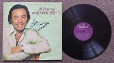 AL MARTINO - 20 GOLDEN GREATS - OZ CAPITOL LABEL LP  **AUTOGRAPHED**