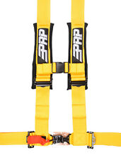 "PRP 4 Point Harness 3"" Pads Seat Belt SINGLE YELLOW RZR XP Turbo 1000 RS1"
