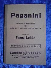 """Paganini - Operette in drei Akten"" von Paul Knepler und Bela Jenbach (1952)"