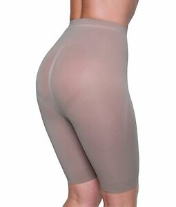 Miss Perfect Panty with Leg. High waist Shape Wear. Black & Nude