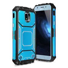 For Samsung Galaxy J3 2018 Aluminum Armor Shockproof built-in Metal Plate Case