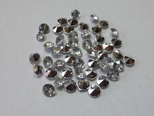 50 DIAMANTEN  Silber Streuelemente Streudeko  Tischdeko  Basteln ca:6,5 mm  Neu