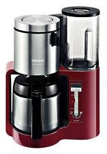 Siemens TC86504 Cranberry Red/Schwarz 12 Tassen Filter-Kaffeemaschine