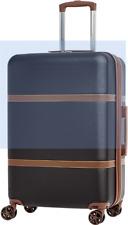 "AmazonBasics Vienna Spinner Luggage Expandable Suitcase with Wheels-24"" (Black)"