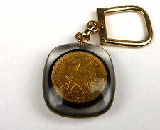 Porte-clés, Key ring Bourbon - PIECE DE 20 FRANCS - C.A.M. COTE D'OR -