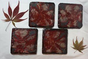 Epoxy natural slate coasters handmade