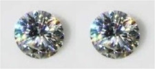 2 MOISSANITES WHITE COLORLESS H 2.00 TCW. LOOSE ROUND VVS1 SUPERIOR TO DIAMOND