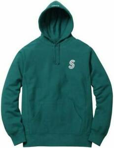 SS16 Supreme Reflective S Logo Hooded Sweatshirt Teal Green Men's Size M