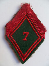 Losange tissu Losange 45 Patch modèle 1945 7° TRAIN ORIGINAL FRENCH ARMY