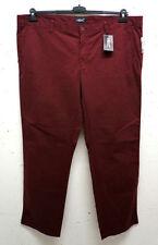 Pantaloni da uomo rossi in misto cotone