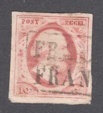 NETHERLANDS STAMP  #2   —— 10c LAKE - 1852 - USED