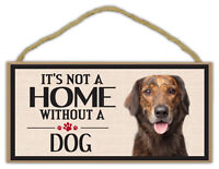 Wood Sign: It's Not A Home Without A DOG | Dogs, Gifts