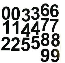 "20 BLACK STICKY VINYL NUMBERS 0-9 4"" HIGH (bl4 x 20)"