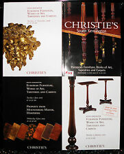 ** Christies catalogue - x4, euro furniture. art, tapestries, carpets,   f119