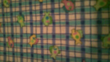1 YARD BABY TROPICAL FISH MULTI COLOR BLUE STRIPS 45 IN WD COTTON CALICO FABRIC