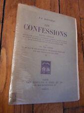 Les confessions-J.J Rousseau -Vol III- Les rêveries du promeneur solitaire -1927