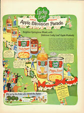 1951 Vintage ad for Lucky Leaf Apple Products~Food~Neat art/Colorful (102113)