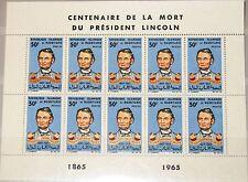 MAURITANIA MAURETANIEN 1965 Klb 250 MS 190 Abraham Lincoln US President MNH