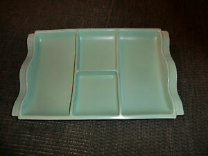 POOLE GREEN FOUR COMPARTMENT TRAY