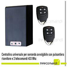 Centralina universale per serranda garage + ricevitore e 2 telecomandi 433 Mhz
