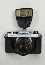 Pentax K1000 35mm SLR Full Manual Film Camera with 50mm lens and AF160  Flash