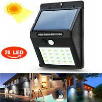 20 LED Solar Lamp Waterproof PIR Motion Sensitive Wall Light Outdoor Yard Garden