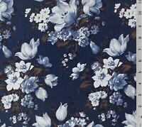 L/'espace stellaire moongate hyperlane Galaxy tissu de coton bleu marine//nuit MAYWOOD