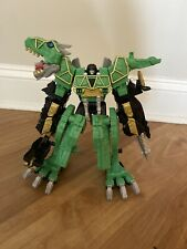 "Power Rangers Dino Super Charge LE DELUXE 11"" GREEN DINO CHARGE MEGAZORD NISB"