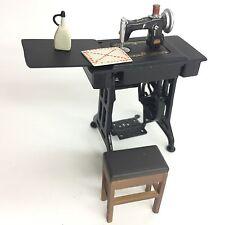 Time Slip Glico Miniature Figure Treadle Sewing Machine Kaiyodo Japan