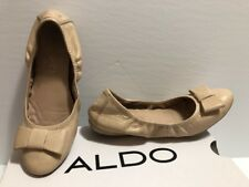 "ALDO ""Follan"" Women's Leather Flats ""Natural"" Color Size 6 in EUC"